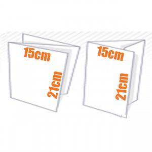 Plaquette - Depliant couleur 3 volets 15x20 cm