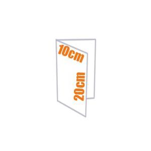 Plaquette - Depliant couleur 2 volets 10x20 cm