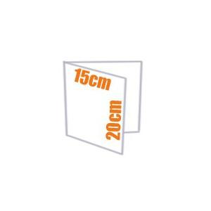 Plaquette - Depliant couleur 2 volets 15x20 cm