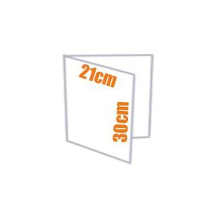 Plaquette - Dépliant couleur 2 volets 21x30 cm (A4)