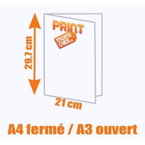 Brochure couleur 2 pics métal A4 fermé / A3 ouvert
