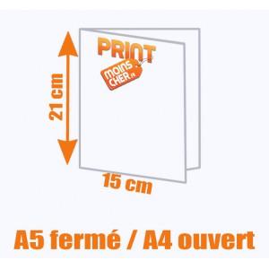 Brochure couleur 2 pics métal A5 fermé / A4 ouvert