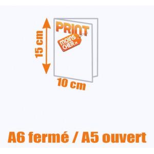 Brochure couleur 2 pics métal A6 fermé / A5 ouvert