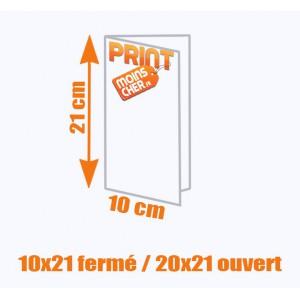 Brochure couleur 2 pics métal 10x21 fermé / 20x21 ouvert