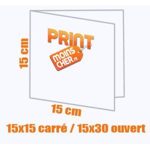 Brochure couleur 2 pics métal 15x15 carré / 15x30 ouvert