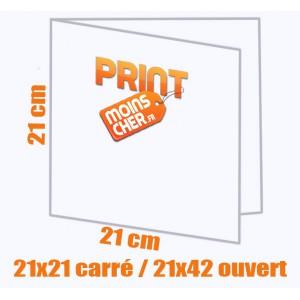 Brochure couleur 2 pics métal 21x21 carré / 21x42 ouvert