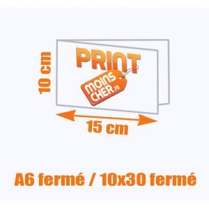 Brochure couleur 2 pics métal A6 fermé / 10x30 fermé