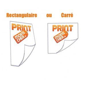 Stickers couleur 10,5cm x 14,8cm Ou Stickers Carré 10,5cm x 10,5cm