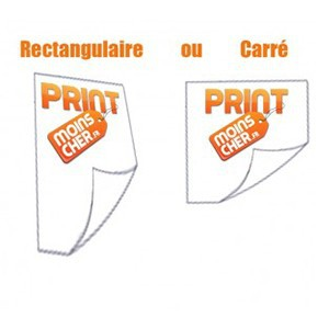 Stickers couleur 14,8cm x 21,0cm Ou Stickers Carré 14,8cm x 14,8cm